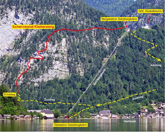 Klettersteig Hallstatt : Klettersteigtipp echernwand klettersteig d « alle topinfos auf